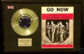 "MOODY BLUES  - GO NOW  7""Platinum Disc & song sheet"